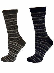 Sierra-Socks-Flower-Fashion-Color-Striped-Women-039-s-Soft-Cotton-Crew-Socks-W234