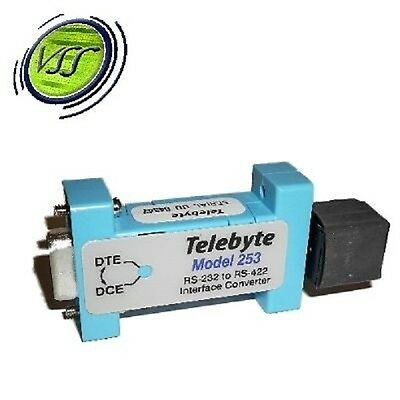 TELEBYTE MODEL 253 RS-232 TO RS-422 INTERFACE CONVERTER