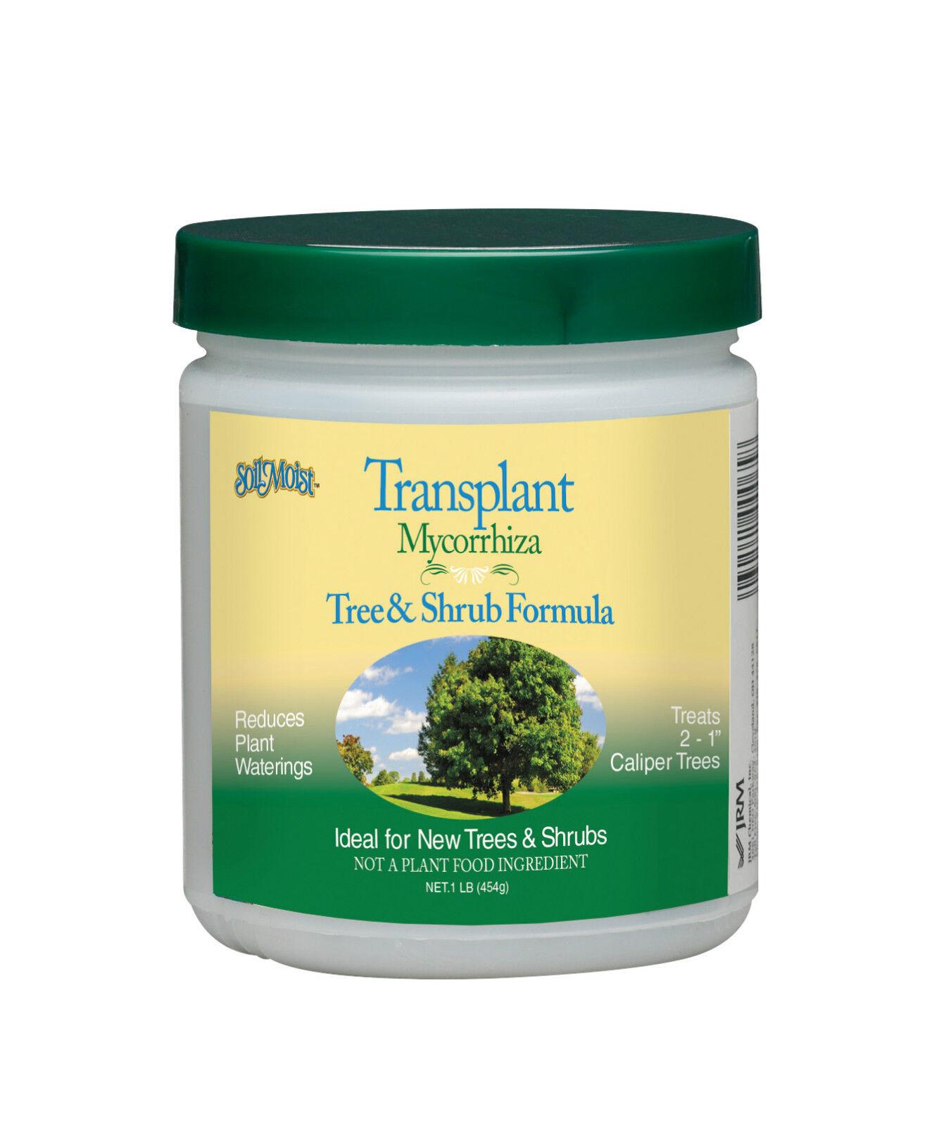 Soil Moist Transplant Mycorrhizal Tree Shrub Formula 1lb Jar Water Saving Mix