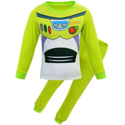Child Kids Boys Movie Toy Story Buzz Lightyear Woody Jessie Pyjamas Fancy Pjs UK