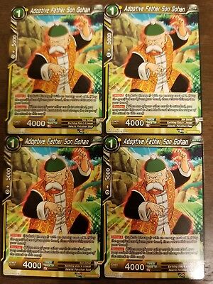 x4 Adoptive Father Son Gohan BT4-091 Common Dragon Ball Super TCG NM