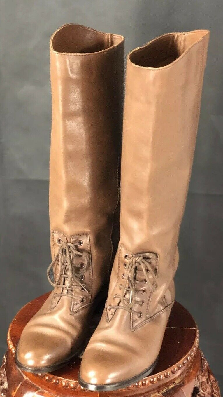 Mister Zapatos Tina Mujer botas nos alto 7.5M Marrón Cuero Cosplay Casual 1902
