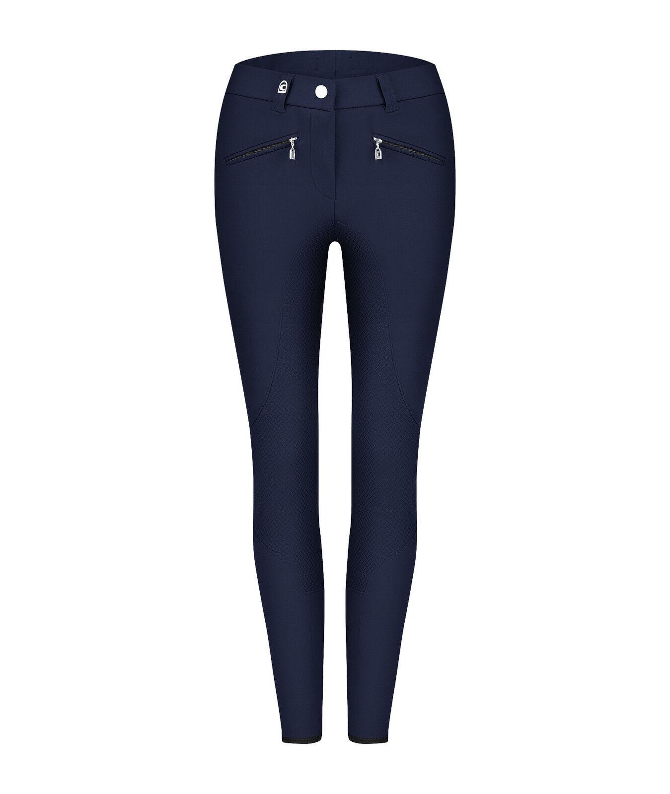Cavallo Caja Grip darkblu Donna-Guarnizione in pieno MONTALA Pantaloni con Cava-Grip elasticizzati