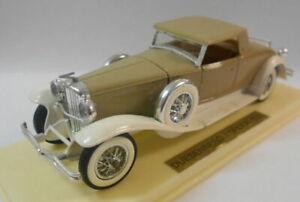 Solido 1/43 Scale Metal Model - SO56 DUSENBURG J CREAM/BROWN