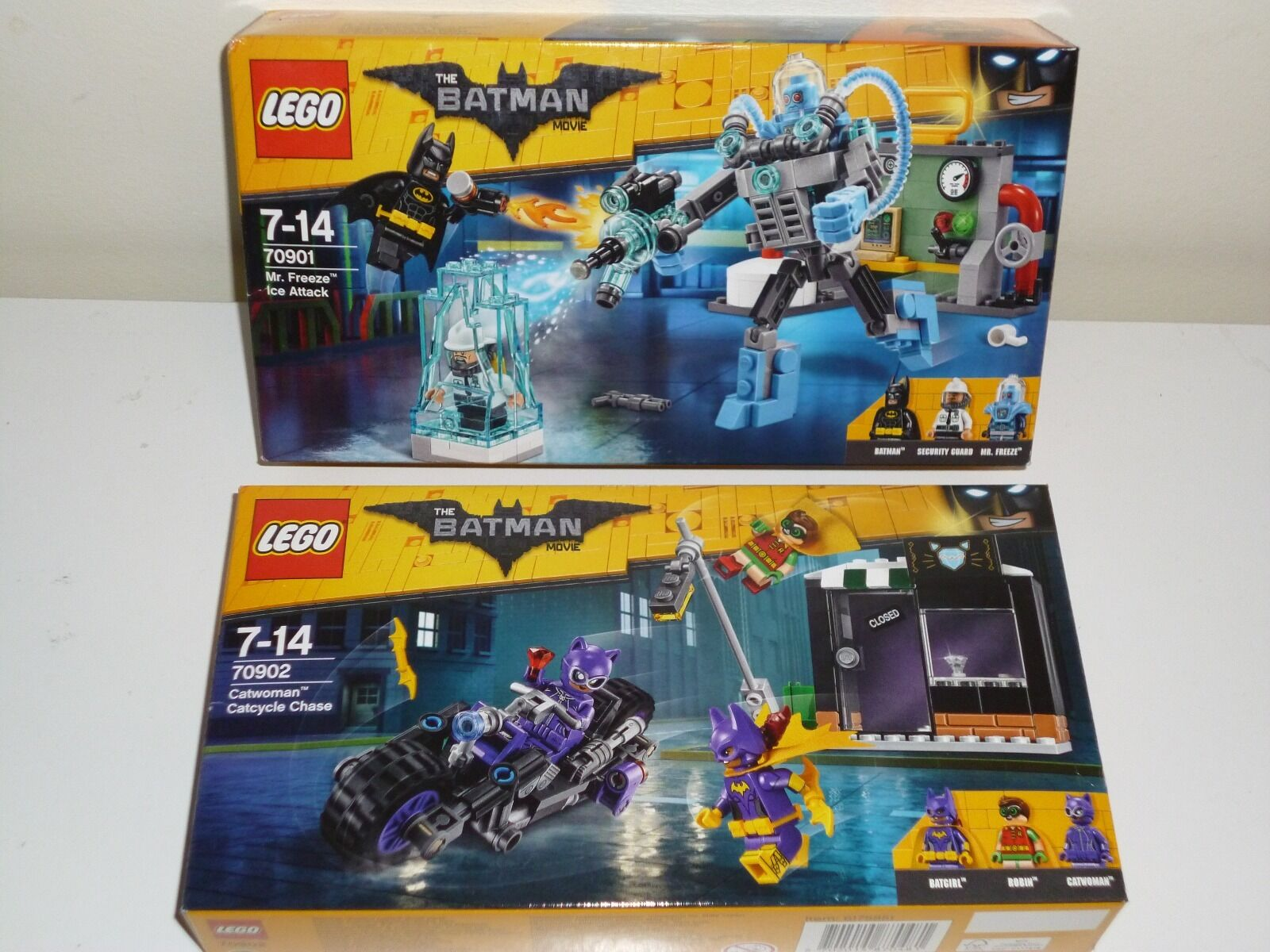 Lego the Batman MOVIE 70901+70902  Mr Freeze Ice Attack + Catwoman CatCycle NEW