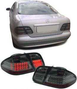 LED-Rueckleuchten-schwarz-smoke-chrom-fuer-Mercedes-CLK-C208-W208