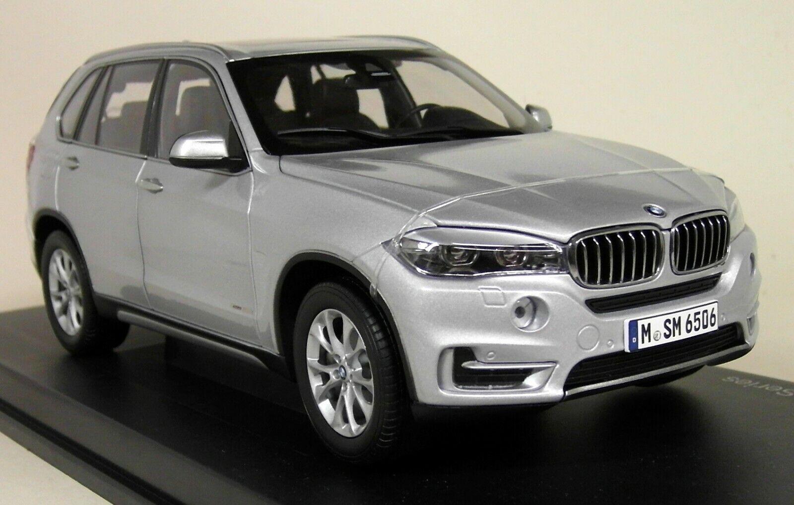 Paragon escala 1 18 - BMW X5 F15 LHD coche Modelo Diecast argento glaciar