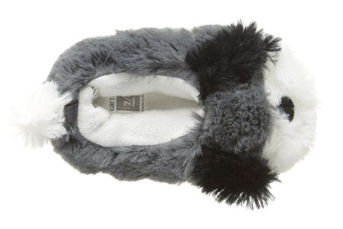 Carter/'s Kenny Dog Gray Boys Faux Fur Booties Slippers Feet Warmer 5//6 7//8 NWT