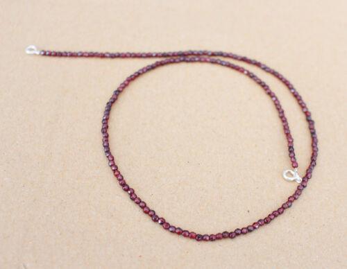 45 cm plata nb-19 2,7 mm naturaleza faceteados granate Edelstein cadena