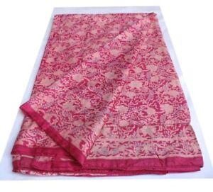 5-Yard-Art-Silk-Sari-Fabric-Indian-Vintage-Recycled-Saree-Reused-Fabric-R-1050