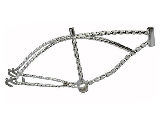 "NEW 20"" ALL TWISTED LOWRIDER FRAME CHROME CRUISER CHOPPER CYCLING TRIKE BIKES"
