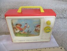 Vintage Fisher Price Radio Music Box TV 114 Row Boat London Bridge Toy works fun
