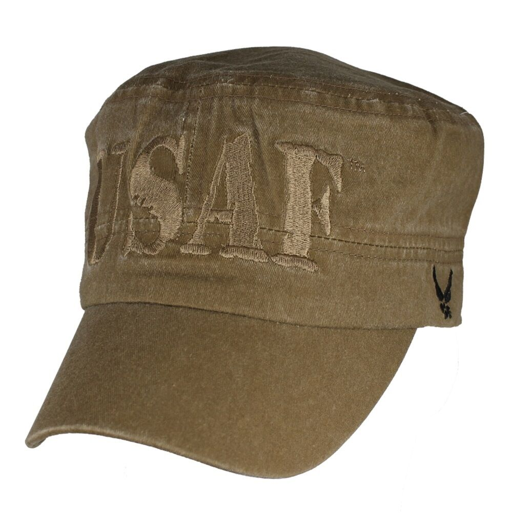 U.S. Air Force Flat Top Top Top Hat - USAF Coyote Brown Washed Cap aaa08e