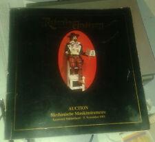 Retonio Gallery. Auction. Mechanische Musikinstrumente. 5. November 1983..