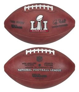 886eb4fddc9 Details about SUPER BOWL LI - 51 WILSON LEATHER OFFICIAL NFL FOOTBALL w   TEAM NAMES and DATE