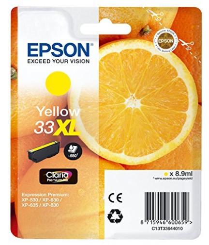 Epson XP530/630/635/830 Yellow Ink Cartridge 8.9ml NEW