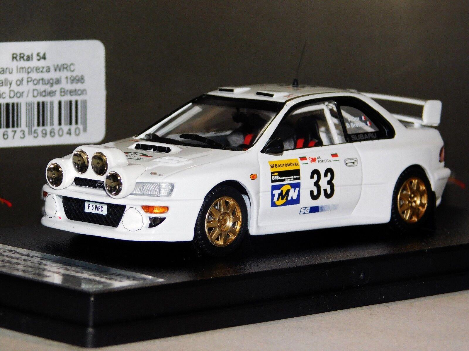 SUBARU IMPREZA WRC  33 DOR PORTUGAL1998 NIGHT VERSION LIM. TROFEU RRAL54 1 43