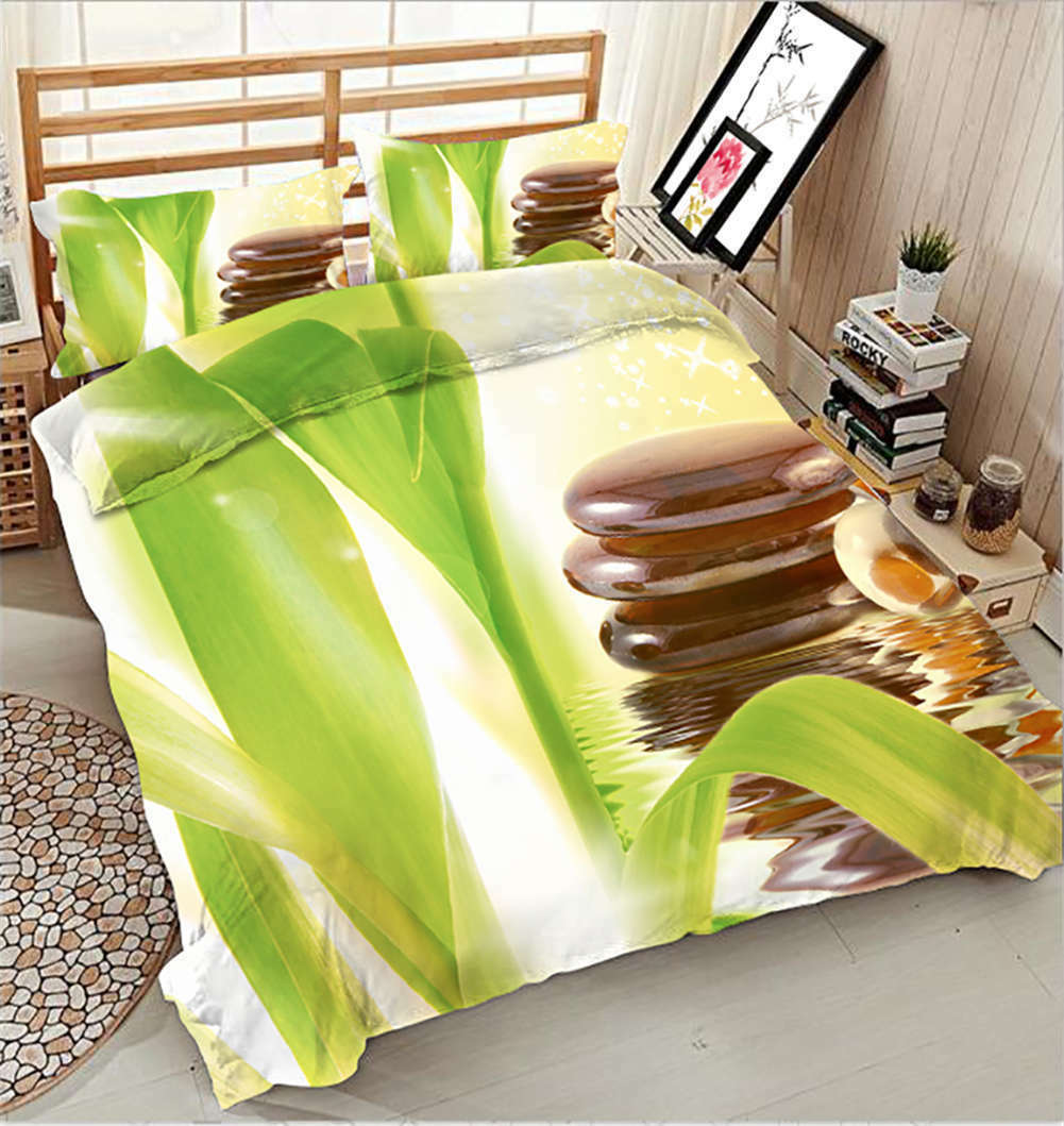 Green Reeds Quiver 3D Printing Duvet Quilt Doona Covers Pillow Case Bedding Sets