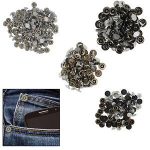 50pcs-9-5mm-Laton-Sombrero-Remaches-Tuercas-Para-Esquina-Denim-Jeans-Decoracion