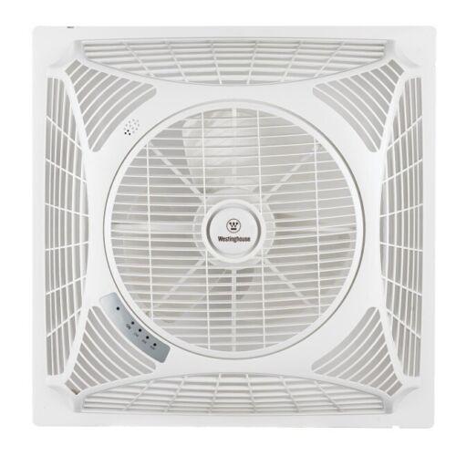 Ventilateur de plafond Windsquare blanc de Westinghouse avec télécommande