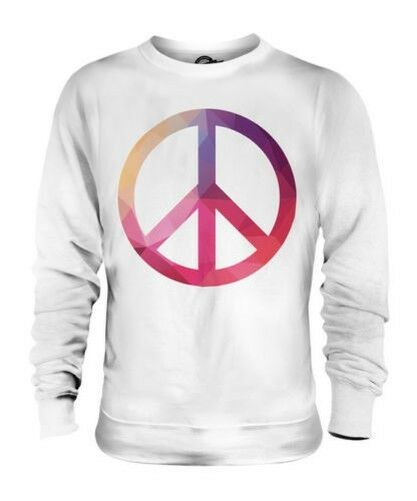 GEOMETRIC PEACE SYMBOL UNISEX SWEATER TOP GIFT PATTERN COLOURFUL