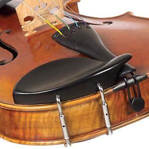 Dresden 1/4 Violin Ebony Chinrest with Standard Bracket - FAST & PROFESSIONAL!