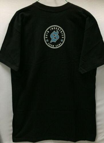 """Skin Industries Men/'s T-Shirt /""""Skid/"""" Blk"""