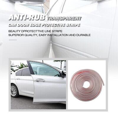 Car Door Edge Protection Pad U Moulding Clip Strip Anti-rub Scratch Transparent