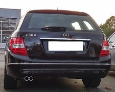 Auspuffblende Mercedes Benz C-Klasse W204 S204 C180 C200 Edelstahl Doppelrohr