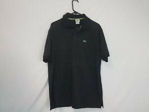 Men-039-s-LaCoste-Alligator-Short-Sleeve-Black-Polo-shirt-size-7-LaCoste-Alligator