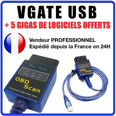 Câble / Interface VGATE USB - Diagnostic AUTO - LOGICIEL EN FRANCAIS AUTOCOM