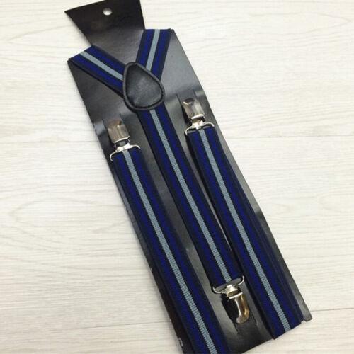 Men Women Vintage Striped Elastic Y-Back Suspender Brace
