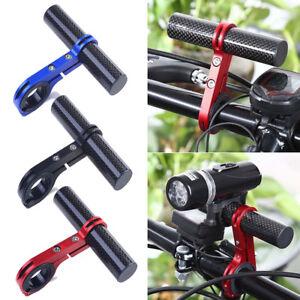 Cycling Bike Bicycle Handle Bar Lamp Bracket Extender Mount Extension Holder
