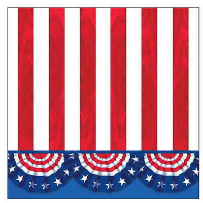 "125 American Pride 4th of July Stars Stipes Patriotic Party 5"" Beverage Napkins"