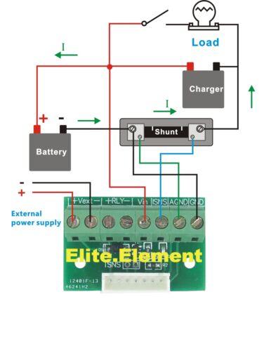 DC 120V300A doble Amperimetro Voltímetro Rojo LED indicador de carga descarga Medidor de voltios