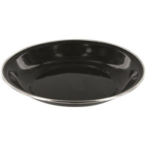 Image Is Loading HIGHLANDER DELUXE ENAMEL CAMPING SOUP PLATE STAINLESS STEEL