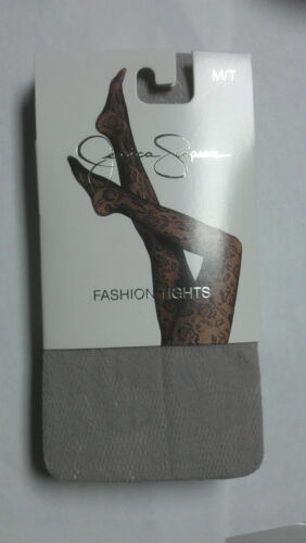 M//T  NWT MSRP $12.00 EACH light Gray Jessica Simpson Fashion Tights Rose