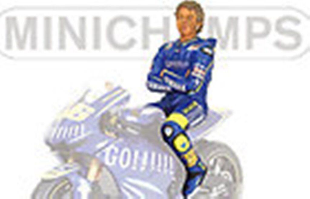 MINICHAMPS 312 049046 SITTING FIGURE Valentino ROSSI MotoGP 2004 1 12th scale