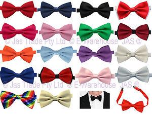 Bow-Tie-Satin-Silk-Formal-Party-Dance-Costume-Wedding-Groom-Bestman-Bowtie