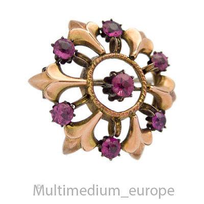 Antike Jugendstil Doublé Brosche Amethyst Paste Blume Brooch ???????????????????? Weitere Rabatte üBerraschungen