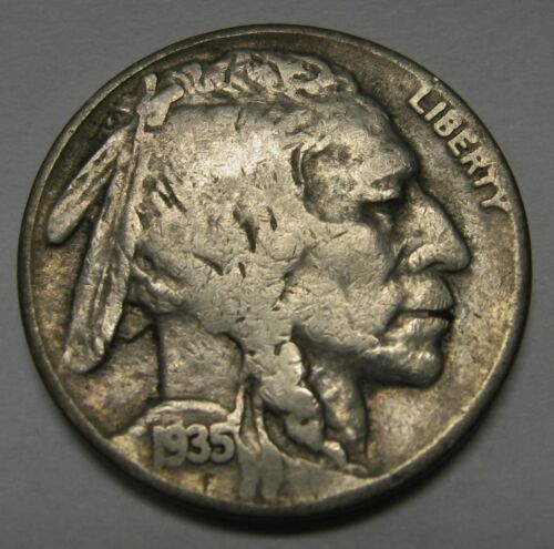 1935-D Buffalo Nickel Grading in the GOOD to VG Range Nice Original Coins