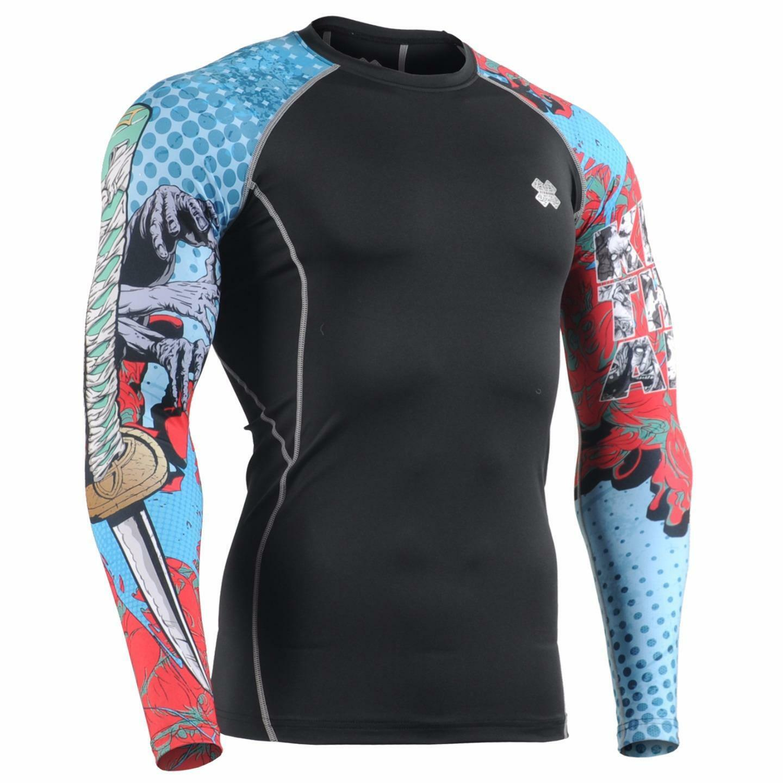 FIXGEAR CPD-B77 Compression Base Layer Skin-tight Shirts Training Gym MMA