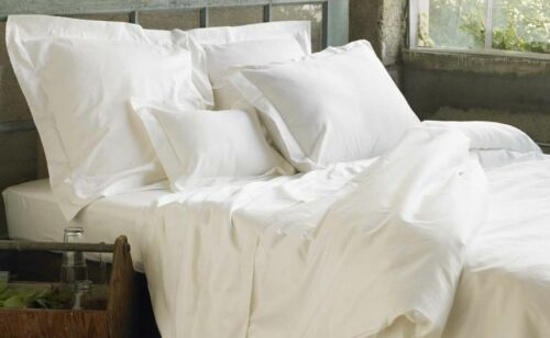 100/%EGYPTIAN COTTON T200 LUXURIANT HOTEL QUALITY WHITE OXFORD//HOUSE PILLOWCASES