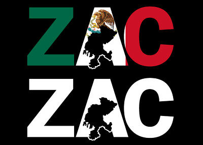 Zacatecas Letters Decal Car Window Laptop Map Vinyl