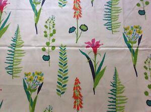 Sanderson-Tela-De-Cortina-034-Floral-Bazar-034-2M-Algodon-Multi-Brillos-papavera-Colec