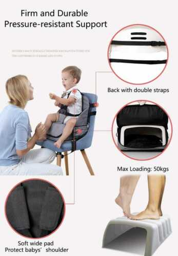 YulDek Portable Multifunctional Mummy's baby bag chair dinning chair booster.
