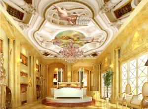 3D Angel Book Roof 9 Ceiling WallPaper Murals Wall Print Decal Deco AJ WALLPAPER