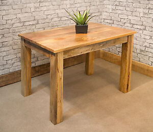 Image Is Loading Solid Natural Mango Wood Dining Table 120cm X
