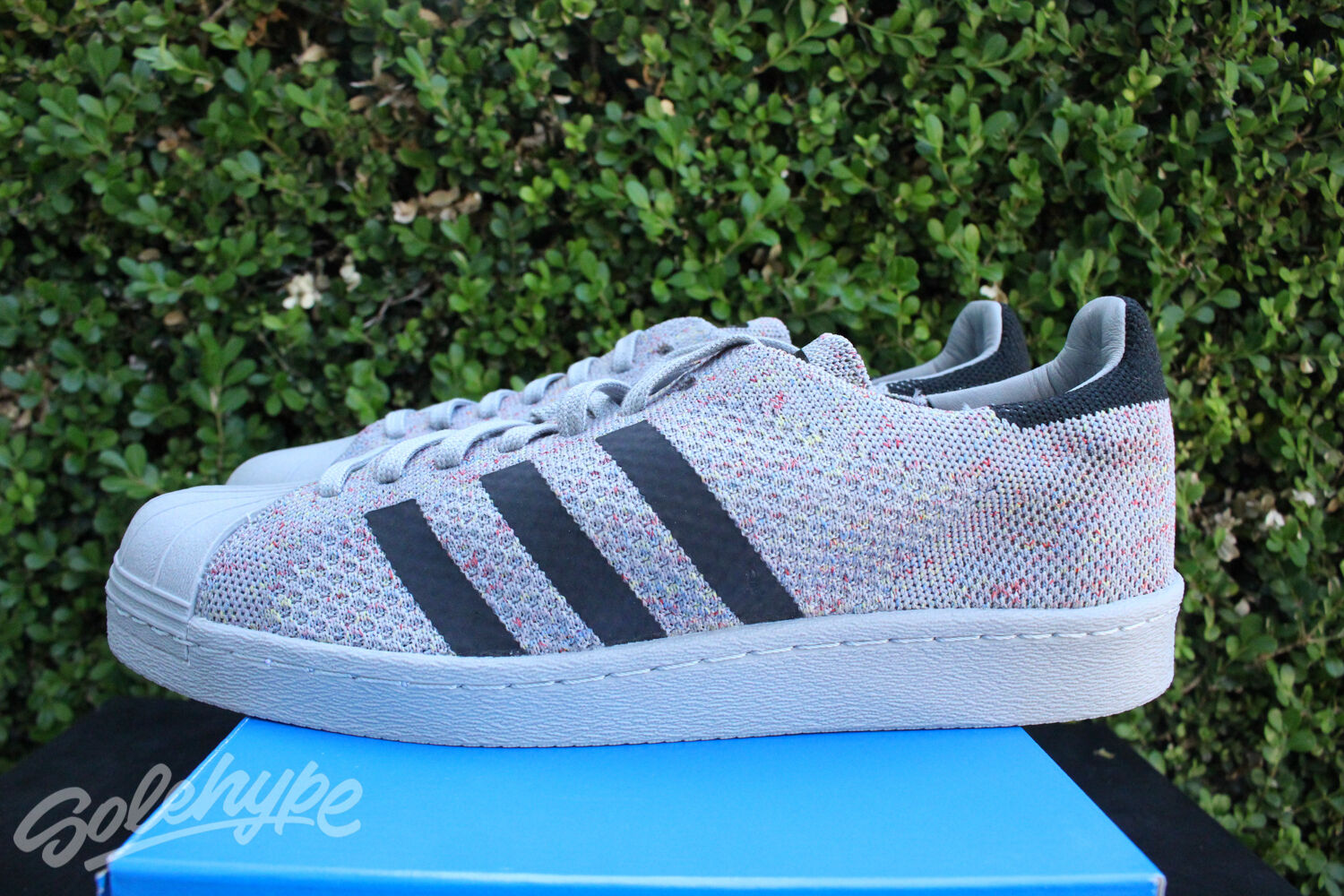 ADIDAS SUPERSTAR 80 'S PK SZ 9.5 MULTICOLOR GRAY S75843 GREY WHITE PRIMEKNIT S75843 GRAY 8bd9f6