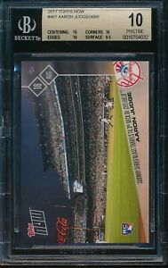 2017-Topps-Now-Aaron-Judge-BGS-10-Pristine-RC-Card-487-Rookie-New-York-Yankees